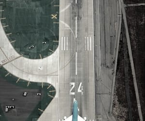 airplane, airport, and plane image