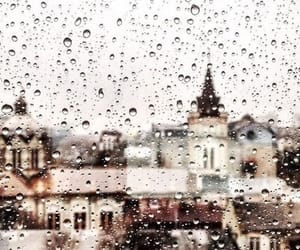 city and rain image