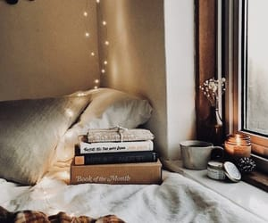 book, light, and autumn image