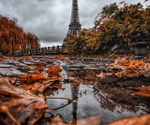 autumn, eiffel tower, and october image