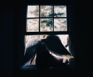 wings, angel, and grunge image