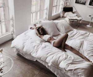 girl, bed, and home image