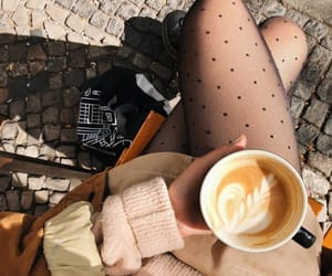autumn, coffee, and girl image