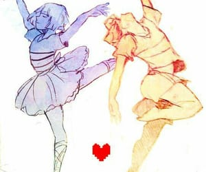 ballet, chara, and frisk image