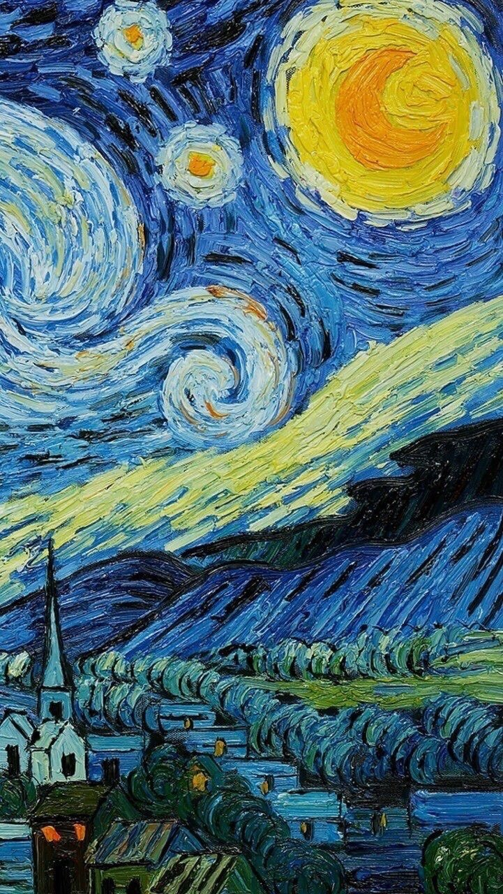 Starry Night Vincent Van Gogh On We Heart It