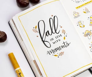 autumn, calligraphy, and draw image