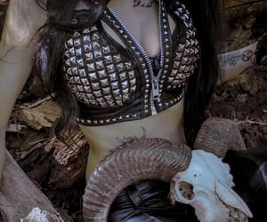 Black Metal, demon, and metal girl image