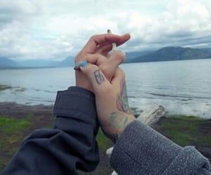 couple, grunge, and tattoo image