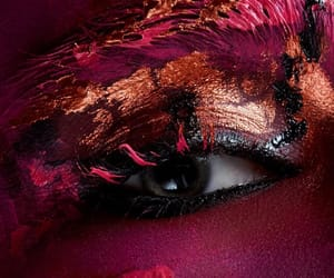 art, black, and cosmetics image