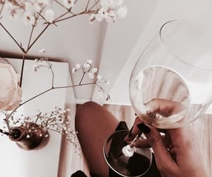 wine, drink, and flowers image