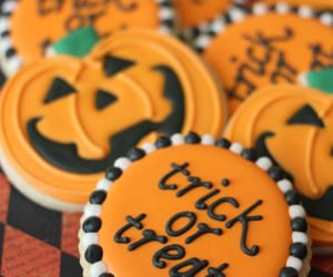 Cookies, pumpkin, and trick image
