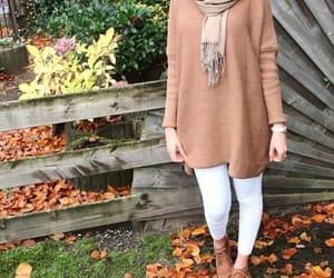 autumn, nice, and beautiful girl image