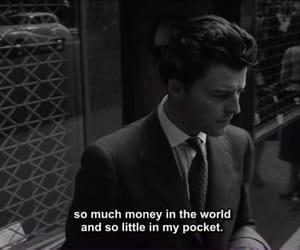 money, quotes, and black and white image