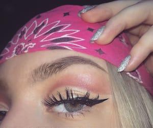 bandana, eyes, and makeup image