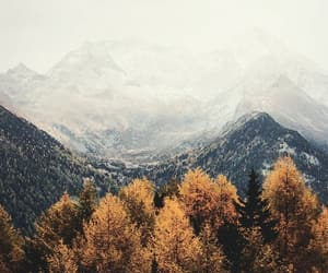 mountains, sky, and fall image