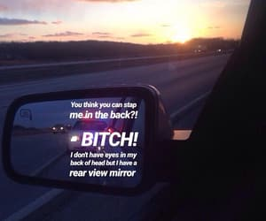 bitch, sunset, and car image