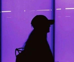 purple, girl, and aesthetic image