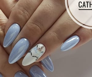 nails, blue, and unicorn image