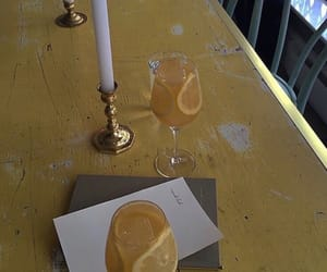 lemon, yellow, and candles image