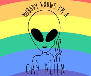 alien, gay, and gif image