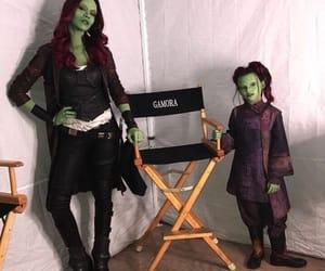 Avengers, behind the scenes, and zoe saldana image