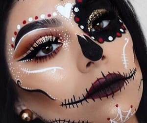 makeup, girl, and Halloween image
