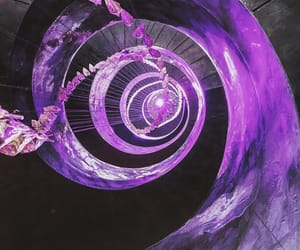 architecture, spiral, and purple image