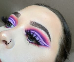 blue eyes, makeup inspo, and colorful makeup image