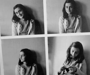 anne frank, black and white, and black image