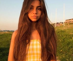 girl, sunset, and golden hour image