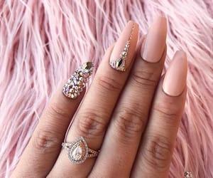 diamonds, light pink, and oro image