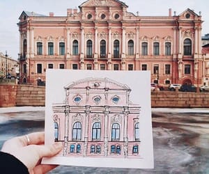 city, foto, and drawing image