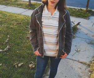 brownhair, casual, and girl image