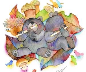 acorns, animals, and bear image
