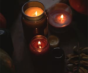 autumn, lighting, and candles image