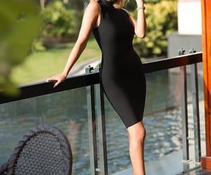 black, dress, and mode image