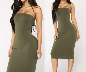green dress, style, and fashion nova image