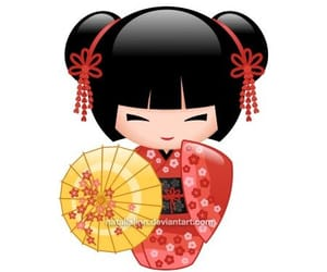 anime, doll, and kimono image