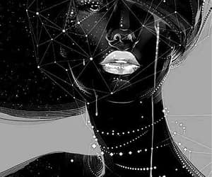 art, black, and woman image