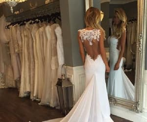 white wedding dresses, wedding dresses mermaid, and wedding dresses backless image