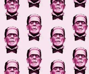 pink, wallpaper, and Frankenstein image