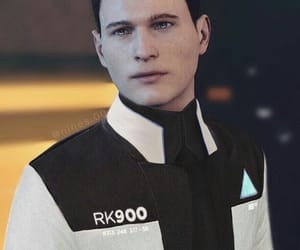 android, Connor, and video game image
