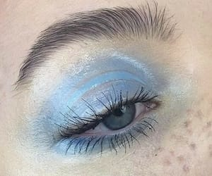 blue, makeup, and aesthetic image