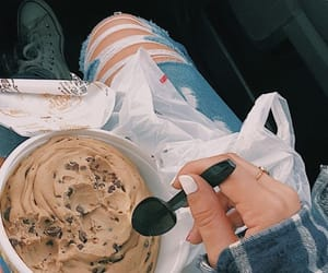 food, aesthetic, and cookie dough image