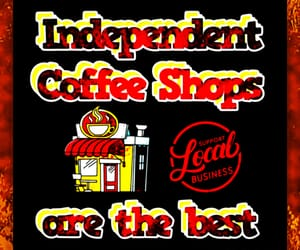 coffee shop, shop small, and small biz image