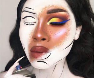 belleza, mirada, and body painting image