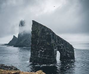clouds, fog, and rock image
