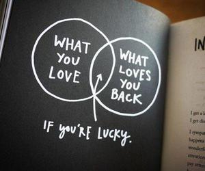 love, quotes, and lucky image