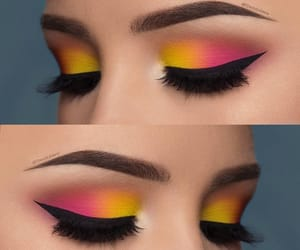 delineador, pink, and yellow image