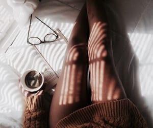 tea, coffee, and book image